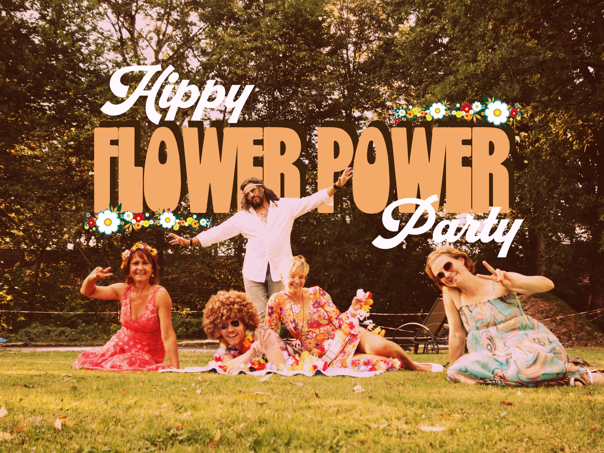 Hippy Flower Power Party